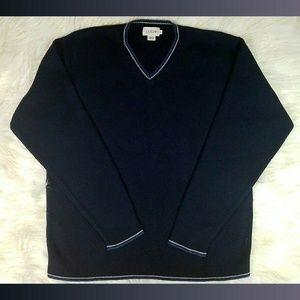 J.Crew Men's Navy Blue V-Neck Sweater